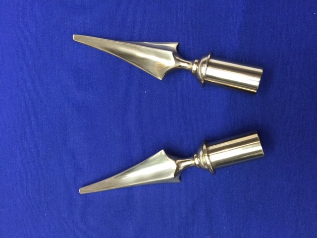 Brass spearpoint finial