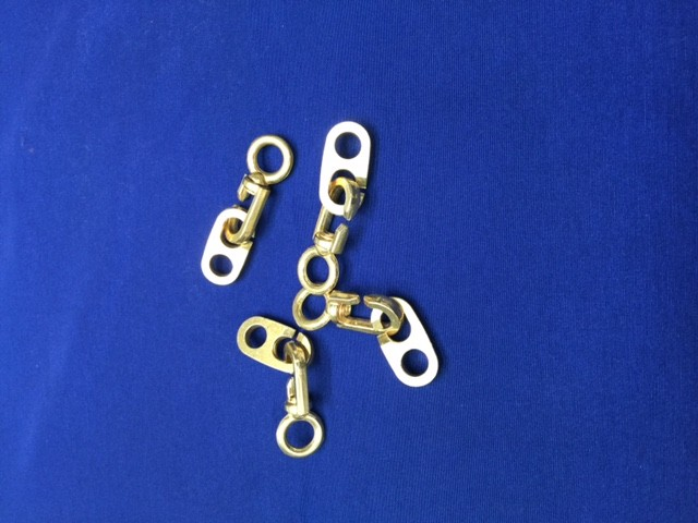 Brass Inglefield clips – large (each)